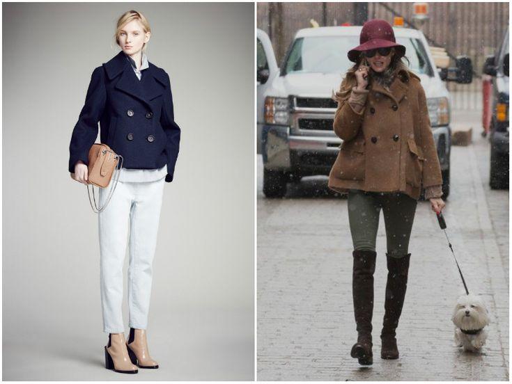 Пальто бушлат: идеи стиля