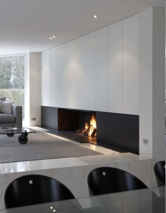 #living #modern #fireplace
