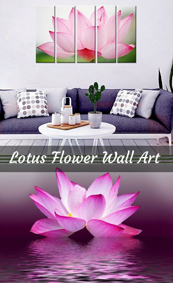 Create a relaxing refuge in your home with lotus flower wall art. You can use lotus flower wall decor in any room of your home but especially bedrooms, living rooms and bathrooms.   You can find cute lotus flower clocks, lotus flower wall tapestries, lotus flower wall decals, lotus flower wall murals that loook cute.  . In fact the lotus flower has always been a symbol of purity and beauty especially in Buddhism and Hinduism.