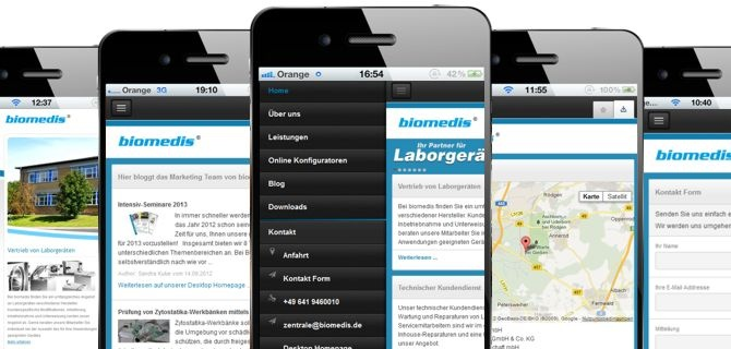 biomedis.de | Mobile Homepage #Laborgeräte  #Autoklaven #Sicherheitswerkbänke