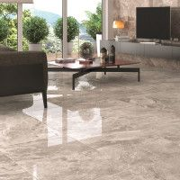 Louvre Gris Glazed Polished Porcelain Floor Tile 750x750mm
