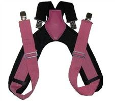 Charm and Hammer:Womens Pink Padded Tool Belt Suspenders