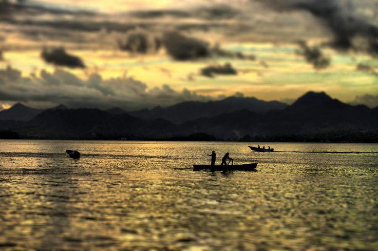Острова Фиджи. Закат.