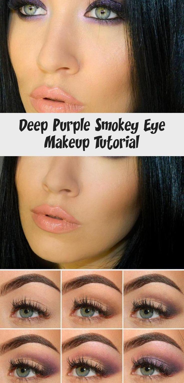 Deep Purple Smokey Eye Makeup Tutorial Fashionisers©