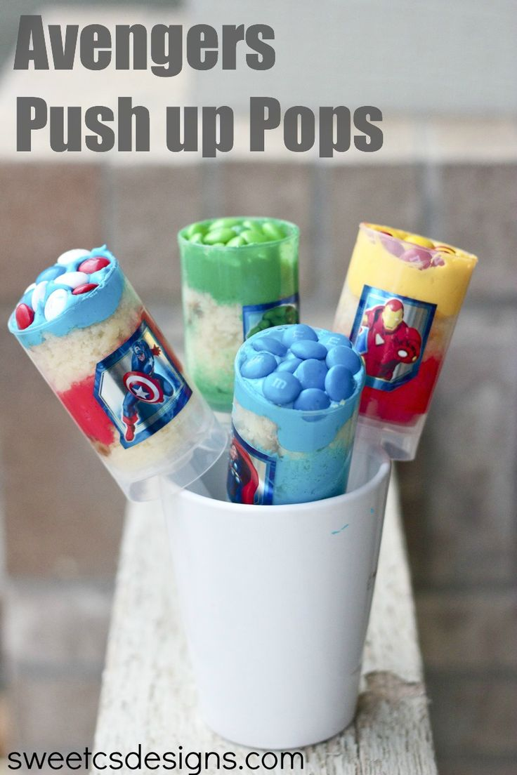 Avengers push up pops #avengers #marvel #disneyside