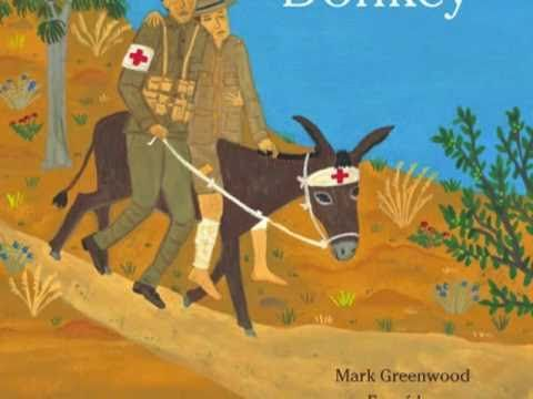 Video-text from the picture book-Simpson and his donkey-Mark Greenwood interspersed with primary source images.