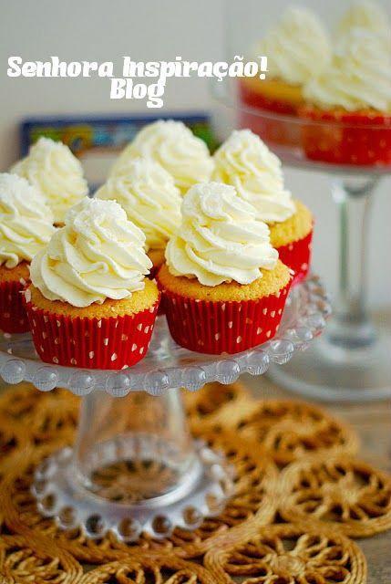 Receita de Cupcake de Coco   Senhora Inspiração! Blog