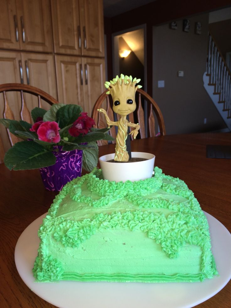 Guardians of the Galaxy- Groot Birthday Cake