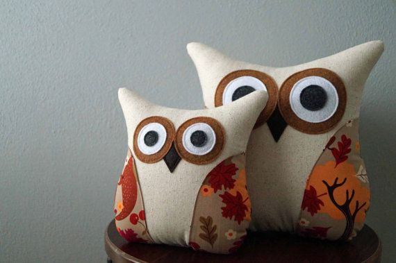 Autumn Decor  Fall Decor  Owl Pillow  Autumn by ATwistedThread