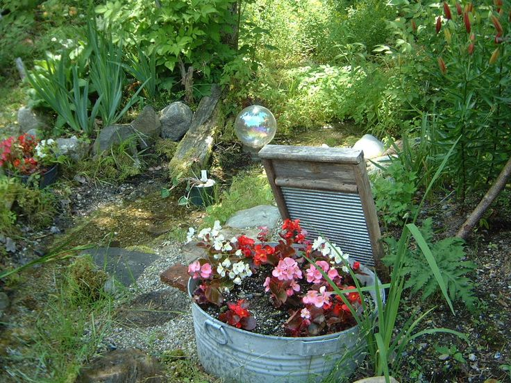 Ideas For Decorating Your Garden With Personal And Everyday Items