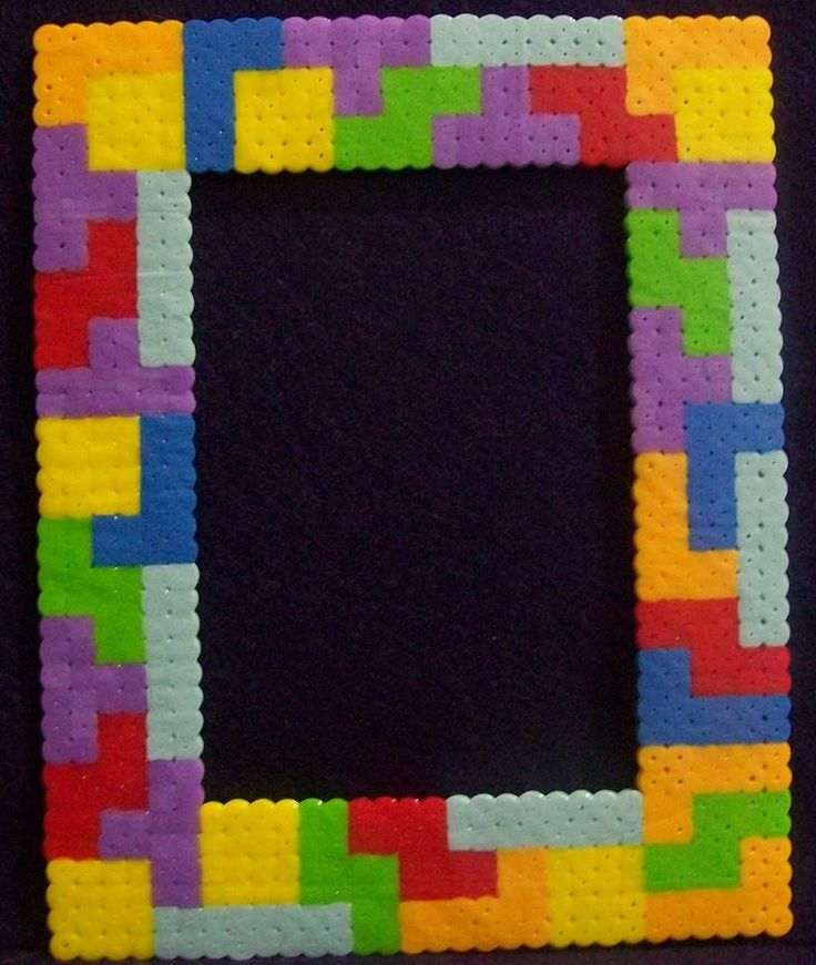 Hama beads Tetris frame