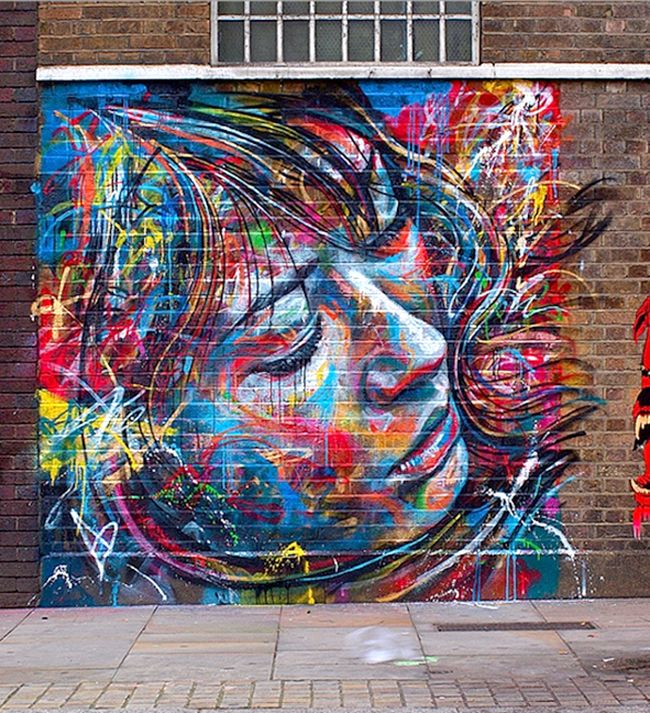 David Walker, Graffiti Portrait, Street Art,