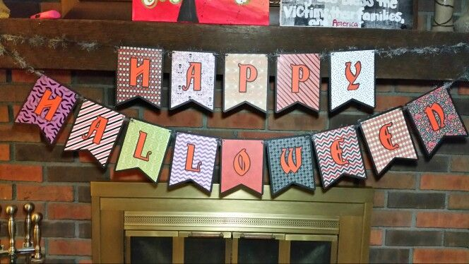 Halloween banner - Silhouette banner pattern and Christmas Carol font