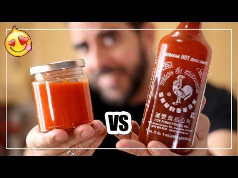 🌶 SRIRACHA CASERA - Deliciosa SALSA PICANTE   Mejor que COMPRADA - YouTube Sriracha Salsa, Salsa Dulce, Food Inc, Coffee Bottle, Drinks, Cooking, Hot, Youtube, Pizza