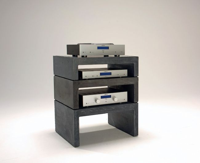modular concrete hifi rack hifi furniture pinterest electronics home home and home. Black Bedroom Furniture Sets. Home Design Ideas