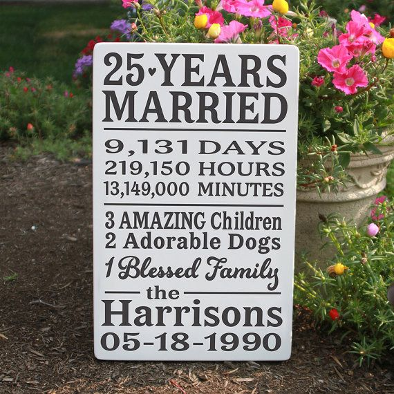 Hey, I found this really awesome Etsy listing at https://www.etsy.com/listing/203281230/special-anniversary-wood-sign-25-year