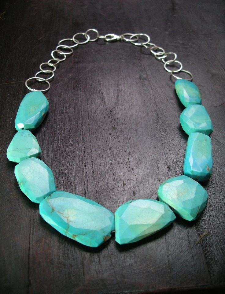 necklace with sleeping beauty turquoise slabs by by rockedjewelry, $495.00....love love LOVE!!!!!!!
