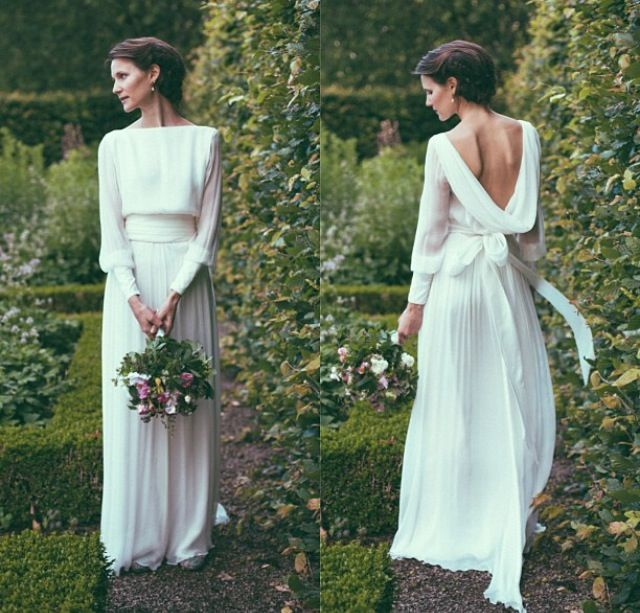 wedding dress by Norwegian designer Leila Hafzi                                                                                                                                                                                 More