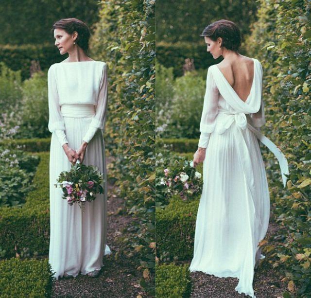 wedding dress by Norwegian designer Leila Hafzi