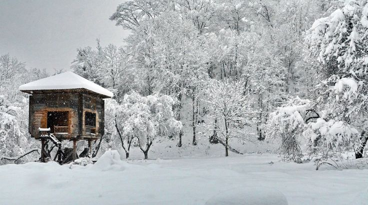"my antique Ottoman ""tree house"" in last years snow (nayla or serender) (Explored) 