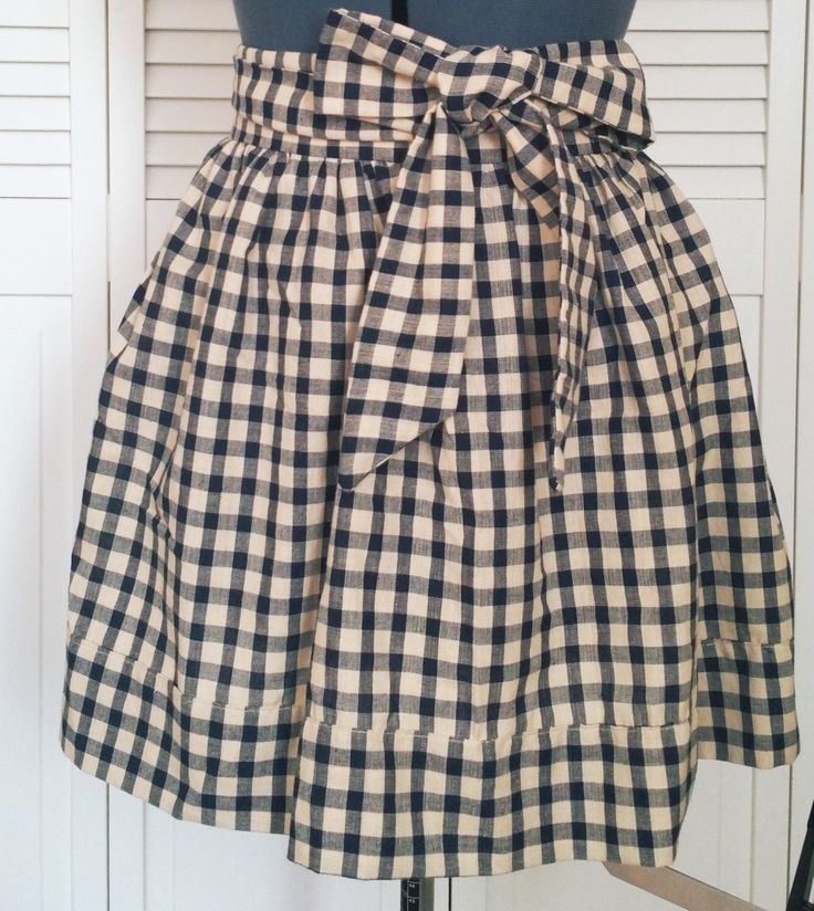 Gingham gathered half apron, gingham half apron, Country apron, cute aprons for sale, aprons for women, gathered half aprons, cute apron by KittyandSpunky on Etsy https://www.etsy.com/listing/292060743/gingham-gathered-half-apron-gingham-half