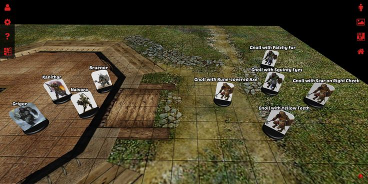 A preview of miniature naming on 3D Virtual Tabletop.