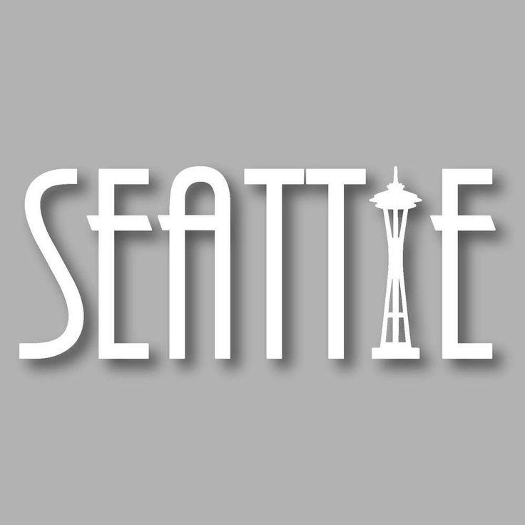 Seattle Text Diecut sticker stickersnorthwest.com