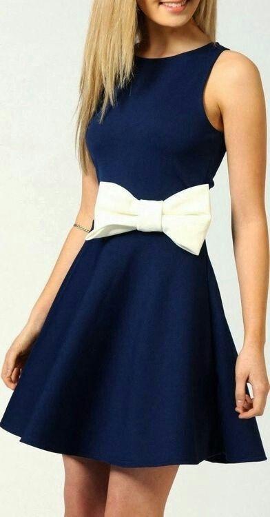 vestido con moño