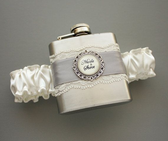 FLASK GARTER -- @Jessica Fisk and @Savannah Warne i feel that you two may need these on the big day