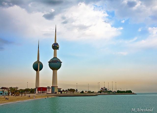 the beautiful Kuwait towers early morningBeautiful Kuwait, Kuwait Towers, Towers Ears, Towers Early, Kuwait Cities