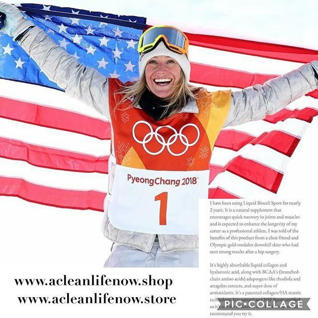 Did you know that Jamie Anderson uses the same liquid Collagen (aka Liquid Gold) that I use?!?! Shes been using it for 2 years now!! Check out what she has to say about it!! (My knees thank me everyday!!)  I have been using Liquid Biocell Sport for nearly 2 years. It is a natural supplement that encourages quick recovery in joints and muscles and is expected to enhance the longevity of my career as a professional athlete. I was told of the benefits of this product from a close friend and…