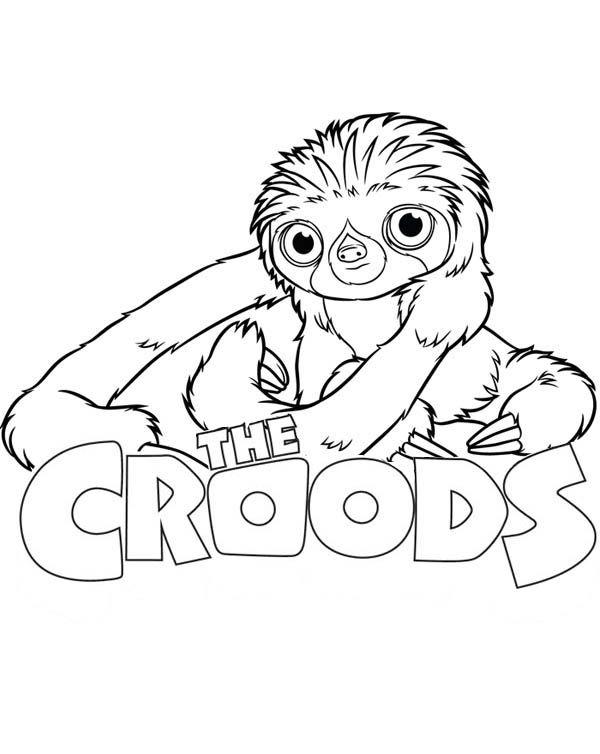The Croods, The Croods Movie Poster Coloring Page: The ...