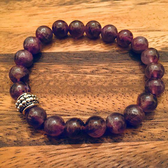 Amethyst Beaded Bracelet / Bead Bracelet / Semi Precious