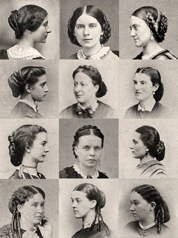 1860s Hairpiece Wardrobe. civil war era fashion hair