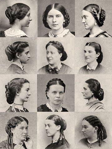 1860s Hairpiece Wardrobe. civil war era fashion hair