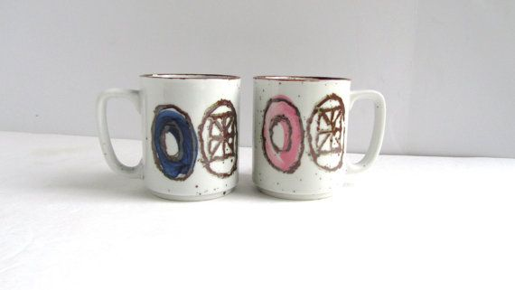Mid Century Danish Modern Mugs by myknickknackstore on Etsy