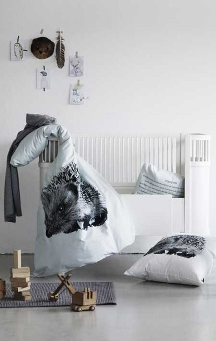Hedgehog Baby Bed Linen by Nord