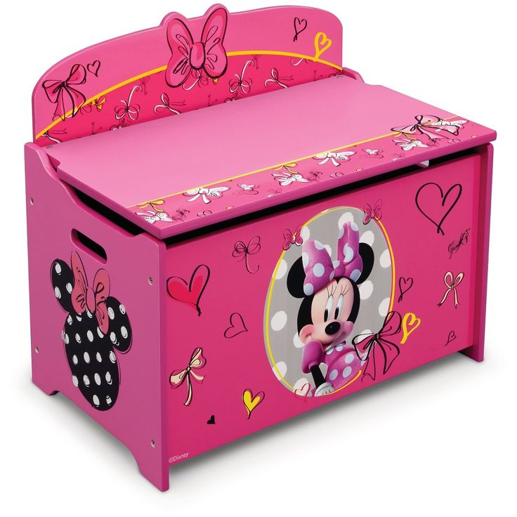 Delta Children Minnie Mouse Deluxe Toy Box