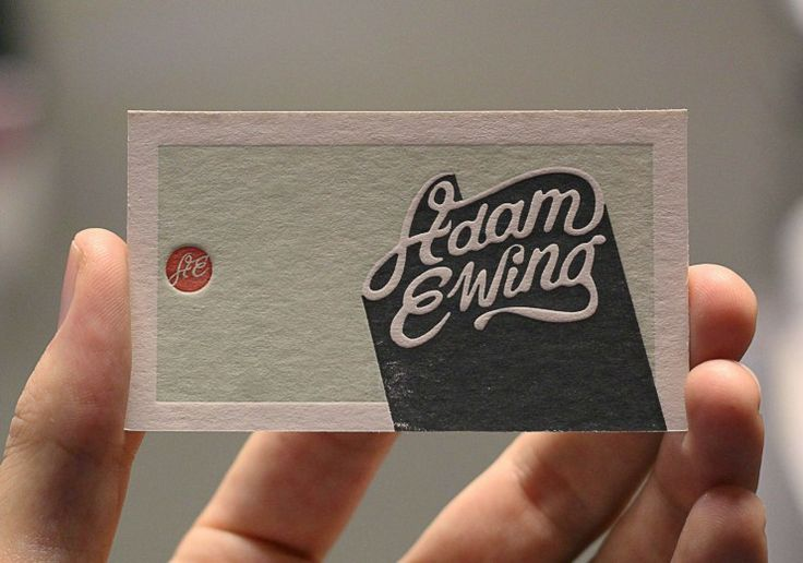 simple card / the beauty of letterpress