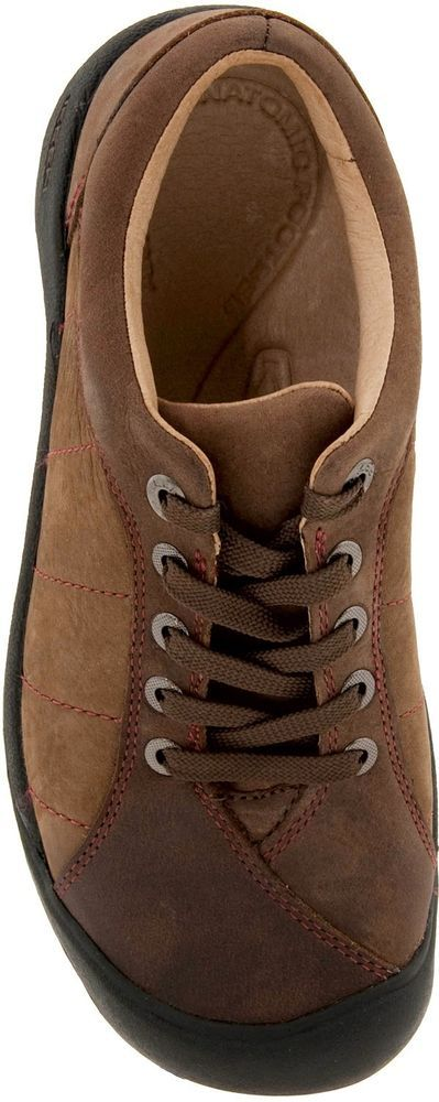 KEEN PRESIDIO Women's Med (B,M),Leather Oxford Solid Brown NIB,US 6 KEEN Oxford Lace Ups. Style & Comfort.