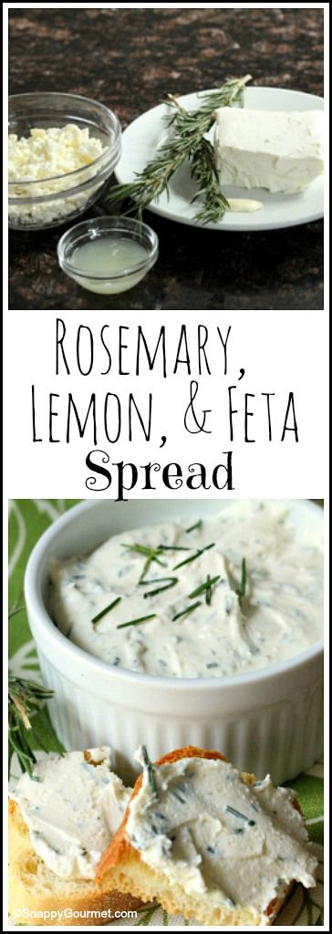 Rosemary, Lemon, & Feta Spread recipe - easy homemade spread and dip | SnappyGourmet.com