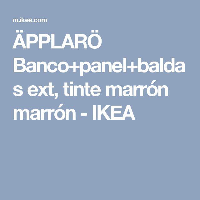 ÄPPLARÖ Banco+panel+baldas ext, tinte marrón marrón - IKEA