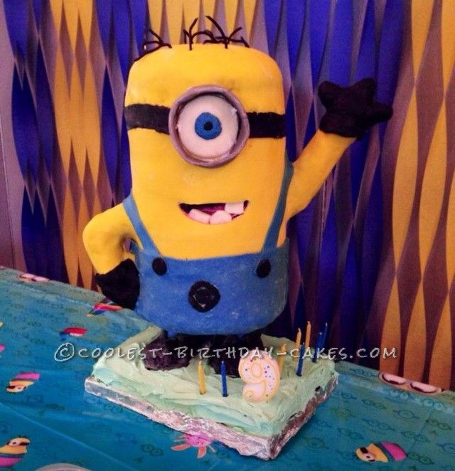 Awesome Minion Cake for My Son's 9th Birthday...