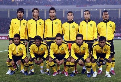 These are Malaysia national football team they are called Persatuan Bolasepuk Malaysia. Football remains one of the most popular sports in Malaysia.  Rugby union, badminton and traditional sports also have a large following.