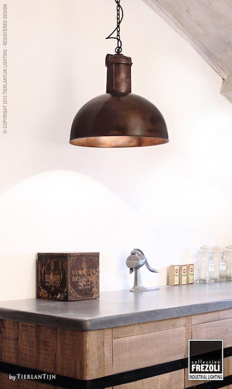 hanglamp in metaal en messing