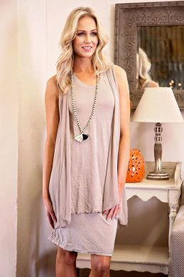 Vigorella Flared Top w Mesh Vest - Womens Short Dresses - For everything but the girl
