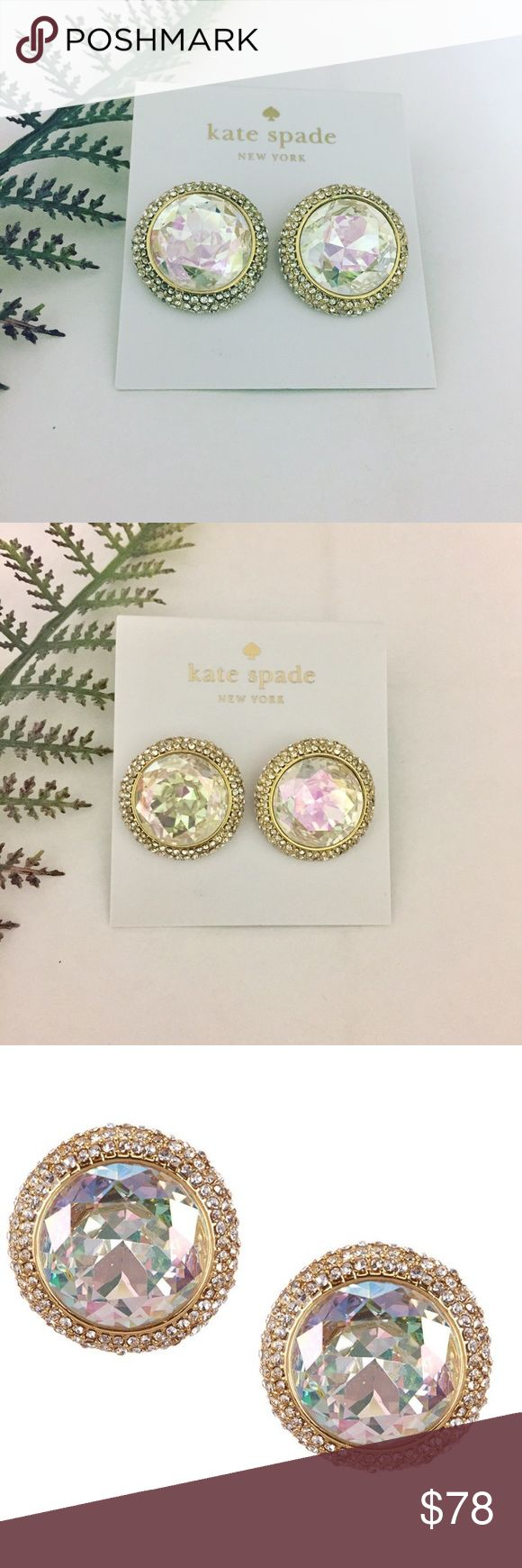 Kate Spade Aurora Borealis Earrings Brand new, authentic, with tags and pouch! Stunning aurora borealis crystal earrings surrounded by pave crystal halo. See other listing for matching necklace!   Bundle discount available!  Suggested User! 5 Star Rated Seller!  Same or next day shipper! No trades! ❌No half price offers kate spade Jewelry Earrings