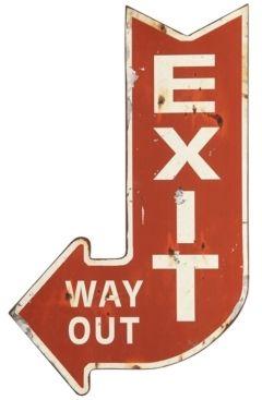 3R Studio Metal Exit Sign Wall Art