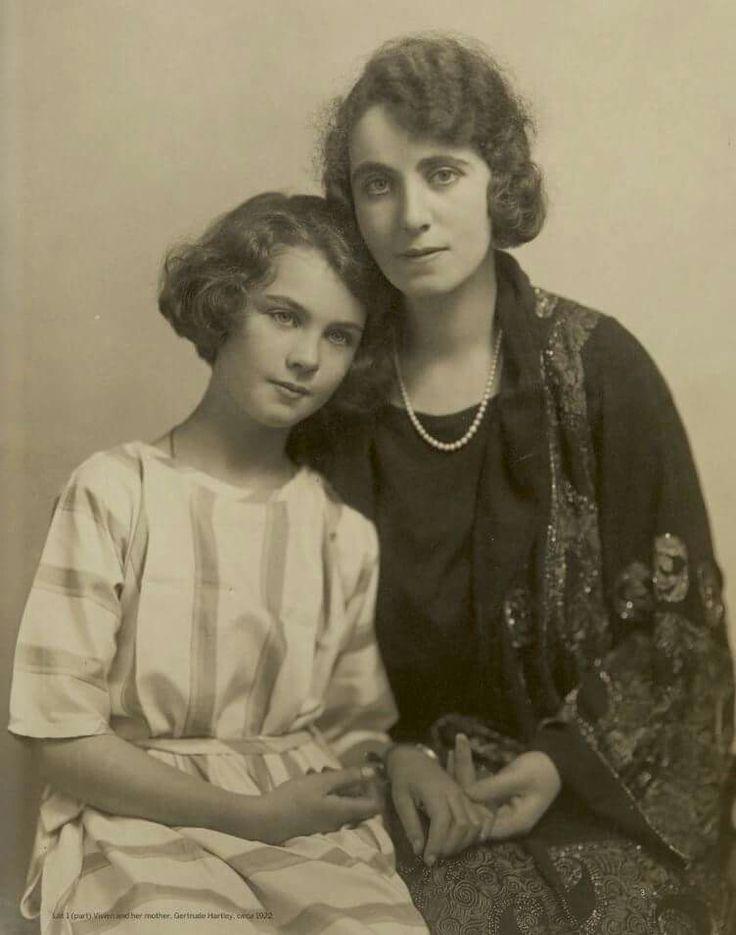 Vivien Leigh and mother Gertrude Hartley