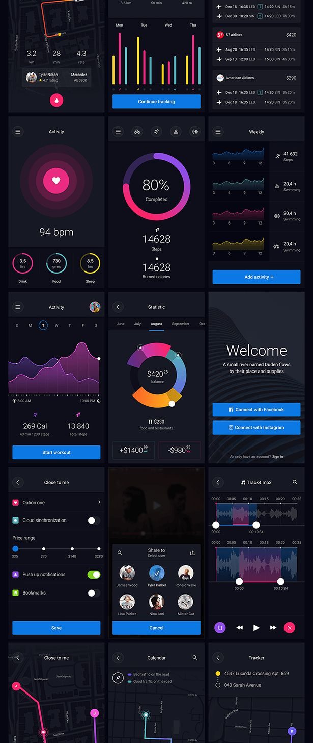Pin UI Kit: Huge Set of UI Components by BeansUiGoods | ThemeForest